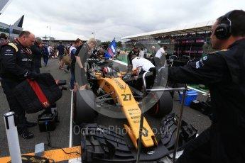World © Octane Photographic Ltd. Formula 1 - British Grand Prix - Sunday - Grid. Nico Hulkenberg - Renault Sport F1 Team R.S.17. Silverstone, UK. Sunday 16th July 2017. Digital Ref: 1891LB2D9916