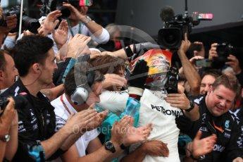 World © Octane Photographic Ltd. Formula 1 - British Grand Prix - Sunday - Race Podium. Lewis Hamilton - Mercedes AMG Petronas F1 W08 EQ Energy+. Silverstone, UK. Sunday 16th July 2017. Digital Ref: 1893LB1D4372