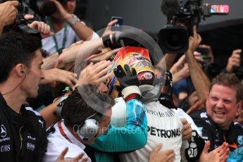World © Octane Photographic Ltd. Formula 1 - British Grand Prix - Sunday - Race Podium. Lewis Hamilton - Mercedes AMG Petronas F1 W08 EQ Energy+. Silverstone, UK. Sunday 16th July 2017. Digital Ref: 1893LB1D4390