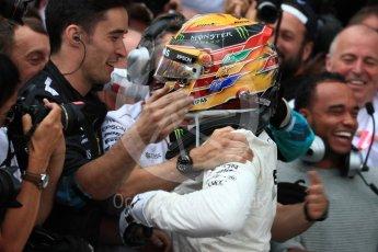 World © Octane Photographic Ltd. Formula 1 - British Grand Prix - Sunday - Race Podium. Lewis Hamilton - Mercedes AMG Petronas F1 W08 EQ Energy+. Silverstone, UK. Sunday 16th July 2017. Digital Ref: 1893LB1D4416