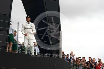 World © Octane Photographic Ltd. Formula 1 - British Grand Prix - Sunday - Race Podium. Lewis Hamilton - Mercedes AMG Petronas F1 W08 EQ Energy+. Silverstone, UK. Sunday 16th July 2017. Digital Ref: 1893LB1D4647
