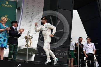 World © Octane Photographic Ltd. Formula 1 - British Grand Prix - Sunday - Race Podium. Lewis Hamilton - Mercedes AMG Petronas F1 W08 EQ Energy+. Silverstone, UK. Sunday 16th July 2017. Digital Ref: 1893LB1D4660