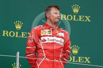 World © Octane Photographic Ltd. Formula 1 - British Grand Prix - Sunday - Race Podium. Kimi Raikkonen - Scuderia Ferrari SF70H. Silverstone, UK. Sunday 16th July 2017. Digital Ref: 1893LB1D4722