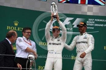 World © Octane Photographic Ltd. Formula 1 - British Grand Prix - Sunday - Race Podium. Valtteri Bottas - Mercedes AMG Petronas F1 W08 EQ Energy+. Silverstone, UK. Sunday 16th July 2017. Digital Ref: 1893LB1D4899