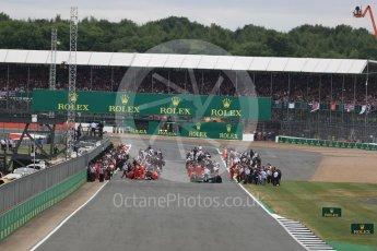 World © Octane Photographic Ltd. Formula 1 - British Grand Prix - Sunday - Race. The grid. Silverstone, UK. Sunday 16th July 2017. Digital Ref: 1892LB1D3695