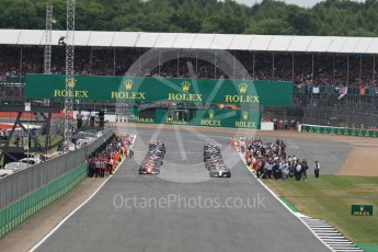 World © Octane Photographic Ltd. Formula 1 - British Grand Prix - Sunday - Race. The grid. Silverstone, UK. Sunday 16th July 2017. Digital Ref: 1892LB1D3701