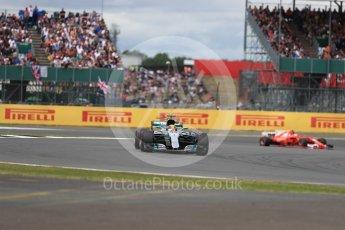 World © Octane Photographic Ltd. Formula 1 - British Grand Prix - Sunday - Race. Lewis Hamilton - Mercedes AMG Petronas F1 W08 EQ Energy+. Silverstone, UK. Sunday 16th July 2017. Digital Ref: 1892LB1D4133