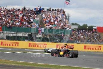 World © Octane Photographic Ltd. Formula 1 - British Grand Prix - Sunday - Race. Max Verstappen - Red Bull Racing RB13. Silverstone, UK. Sunday 16th July 2017. Digital Ref: 1892LB1D4156