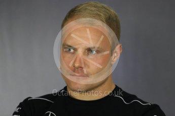 World © Octane Photographic Ltd. Formula 1 - British Grand Prix - Thursday - FIA Driver Press Conference. Valtteri Bottas - Mercedes AMG Petronas F1 Team. Silverstone, UK. Thursday 13th July 2017. Digital Ref: 1877LB1D7123