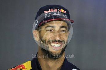 World © Octane Photographic Ltd. Formula 1 - British Grand Prix - Thursday - FIA Driver Press Conference. Daniel Ricciardo - Red Bull Racing. Silverstone, UK. Thursday 13th July 2017. Digital Ref: 1877LB1D7311
