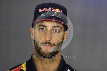 World © Octane Photographic Ltd. Formula 1 - British Grand Prix - Thursday - FIA Driver Press Conference. Daniel Ricciardo - Red Bull Racing. Silverstone, UK. Thursday 13th July 2017. Digital Ref: 1877LB1D7348