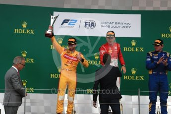 World © Octane Photographic Ltd. FIA Formula 2 (F2) - Race 1. Charles Leclerc (1st) - Prema Racing and Norman Nato (2nd) – Pertamina Arden. British Grand Prix, Silverstone, UK. Saturday 15th July 2017. Digital Ref: 1887LB1D2399