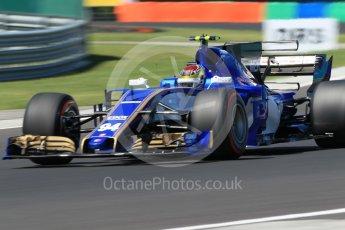 World © Octane Photographic Ltd. Formula 1 - Hungarian Grand Prix Practice 3. Pascal Wehrlein – Sauber F1 Team C36. Hungaroring, Budapest, Hungary. Saturday 29th July 2017. Digital Ref: