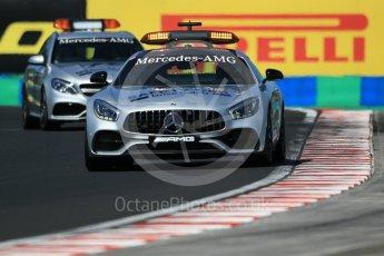 World © Octane Photographic Ltd. Formula 1 - Hungarian Grand Prix Practice 3. Mercedes AMG GT Safety car and Mercedes AMG C63 Estate Medical Car. Hungaroring, Budapest, Hungary. Saturday 29th July 2017. Digital Ref: