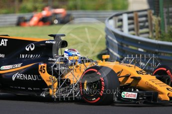 World © Octane Photographic Ltd. Formula 1 - Hungarian in-season testing. Nicholas Latifi - Renault Sport F1 Team R.S.17. Hungaroring, Budapest, Hungary. Tuesday 1st August 2017. Digital Ref:1916CB1L2508