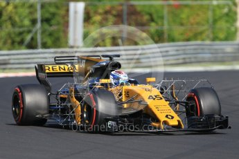 World © Octane Photographic Ltd. Formula 1 - Hungarian in-season testing. Nicholas Latifi - Renault Sport F1 Team R.S.17. Hungaroring, Budapest, Hungary. Tuesday 1st August 2017. Digital Ref:1916CB1L2719