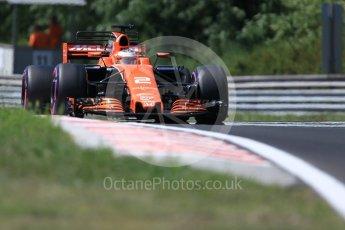 World © Octane Photographic Ltd. Formula 1 - Hungarian in-season testing. Stoffel Vandoorne - McLaren Honda MCL32. Hungaroring, Budapest, Hungary. Tuesday 1st August 2017. Digital Ref:1916CB1L2869