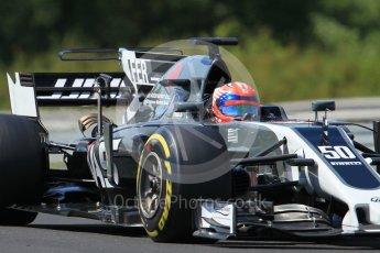 World © Octane Photographic Ltd. Formula 1 - Hungarian in-season testing. Santino Ferrucci - Haas F1 Team VF-17. Hungaroring, Budapest, Hungary. Tuesday 1st August 2017. Digital Ref:1916CB1L2891