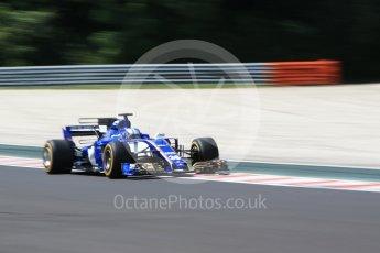 World © Octane Photographic Ltd. Formula 1 - Hungarian in-season testing. Gustav Malja – Sauber F1 Team C36. Hungaroring, Budapest, Hungary. Tuesday 1st August 2017. Digital Ref:1916CB2D4673