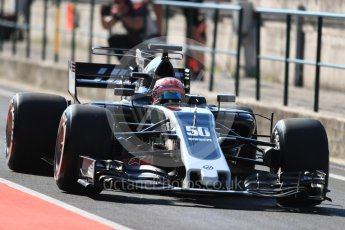 World © Octane Photographic Ltd. Formula 1 - Hungarian in-season testing. Santino Ferrucci - Haas F1 Team VF-17. Hungaroring, Budapest, Hungary. Tuesday 1st August 2017. Digital Ref:1916LB1D2094
