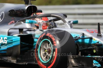 World © Octane Photographic Ltd. Formula 1 - Hungarian in-season testing. George Russell - Mercedes AMG Petronas F1 W08 EQ Energy+ with halo. Hungaroring, Budapest, Hungary. Wednesday 2nd August 2017. Digital Ref: