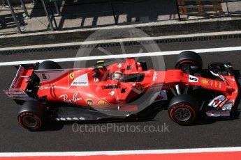 World © Octane Photographic Ltd. Formula 1 - Hungarian in-season testing. Sebastian Vettel - Scuderia Ferrari SF70H. Hungaroring, Budapest, Hungary. Wednesday 2nd August 2017. Digital Ref:1917CB2D5396
