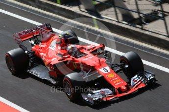 World © Octane Photographic Ltd. Formula 1 - Hungarian in-season testing. Sebastian Vettel - Scuderia Ferrari SF70H. Hungaroring, Budapest, Hungary. Wednesday 2nd August 2017. Digital Ref:1917CB2D5425
