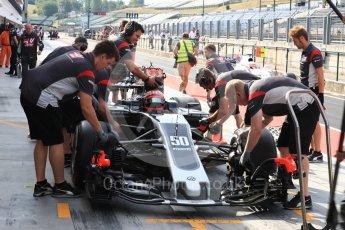 World © Octane Photographic Ltd. Formula 1 - Hungarian in-season testing. Santino Ferrucci - Haas F1 Team VF-17. Hungaroring, Budapest, Hungary. Wednesday 2nd August 2017. Digital Ref: