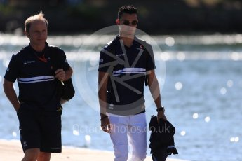 World © Octane Photographic Ltd. Formula 1 - Canadian Grand Prix - Saturday Paddock. Pascal Wehrlein – Sauber F1 Team. Circuit Gilles Villeneuve, Montreal, Canada. Saturday 10th June 2017. Digital Ref: 1849LB1D4923