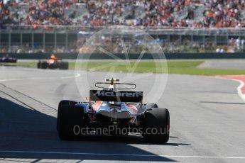 World © Octane Photographic Ltd. Formula 1 - Canadian Grand Prix - Saturday - Practice 3. Stoffel Vandoorne - McLaren Honda MCL32. Circuit Gilles Villeneuve, Montreal, Canada. Saturday 10th June 2017. Digital Ref: 1853LB1D5568