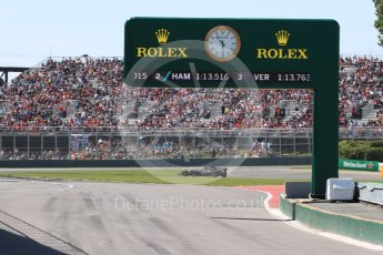 World © Octane Photographic Ltd. Formula 1 - Canadian Grand Prix - Saturday - Practice 3. Romain Grosjean - Haas F1 Team VF-17. Circuit Gilles Villeneuve, Montreal, Canada. Saturday 10th June 2017. Digital Ref: 1853LB1D5739