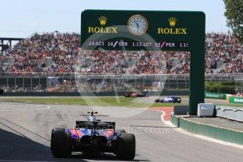 World © Octane Photographic Ltd. Formula 1 - Canadian Grand Prix - Saturday - Practice 3. Carlos Sainz - Scuderia Toro Rosso STR12. Circuit Gilles Villeneuve, Montreal, Canada. Saturday 10th June 2017. Digital Ref: 1853LB1D5763