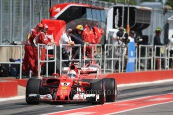 World © Octane Photographic Ltd. Formula 1 - Canadian Grand Prix - Saturday - Practice 3. Sebastian Vettel - Scuderia Ferrari SF70H. Circuit Gilles Villeneuve, Montreal, Canada. Saturday 10th June 2017. Digital Ref: 1853LB1D5793