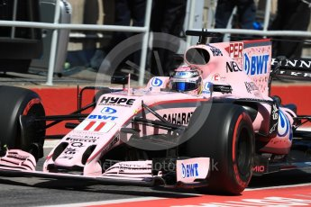 World © Octane Photographic Ltd. Formula 1 - Canadian Grand Prix - Saturday - Practice 3. Sergio Perez - Sahara Force India VJM10. Circuit Gilles Villeneuve, Montreal, Canada. Saturday 10th June 2017. Digital Ref: 1853LB1D5881