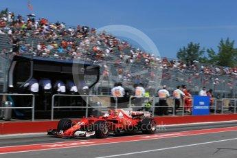 World © Octane Photographic Ltd. Formula 1 - Canadian Grand Prix - Saturday - Practice 3. Sebastian Vettel - Scuderia Ferrari SF70H. Circuit Gilles Villeneuve, Montreal, Canada. Saturday 10th June 2017. Digital Ref: 1853LB2D2763