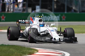 World © Octane Photographic Ltd. Formula 1 - Canadian Grand Prix - Saturday - Qualifying. Lance Stroll - Williams Martini Racing FW40. Circuit Gilles Villeneuve, Montreal, Canada. Saturday 10th June 2017. Digital Ref: 1854LB1D6288