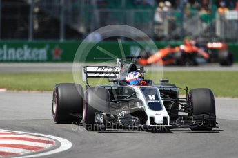 World © Octane Photographic Ltd. Formula 1 - Canadian Grand Prix - Saturday - Qualifying. Romain Grosjean - Haas F1 Team VF-17. Circuit Gilles Villeneuve, Montreal, Canada. Saturday 10th June 2017. Digital Ref: 1854LB1D6297