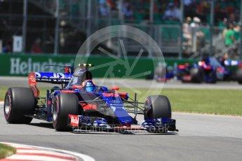World © Octane Photographic Ltd. Formula 1 - Canadian Grand Prix - Saturday - Qualifying. Carlos Sainz - Scuderia Toro Rosso STR12. Circuit Gilles Villeneuve, Montreal, Canada. Saturday 10th June 2017. Digital Ref: 1854LB1D6348
