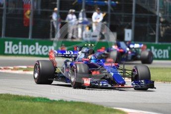 World © Octane Photographic Ltd. Formula 1 - Canadian Grand Prix - Saturday - Qualifying. Carlos Sainz - Scuderia Toro Rosso STR12. Circuit Gilles Villeneuve, Montreal, Canada. Saturday 10th June 2017. Digital Ref: 1854LB1D6434