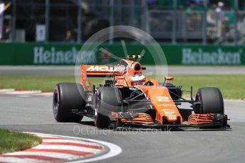 World © Octane Photographic Ltd. Formula 1 - Canadian Grand Prix - Saturday - Qualifying. Stoffel Vandoorne - McLaren Honda MCL32. Circuit Gilles Villeneuve, Montreal, Canada. Saturday 10th June 2017. Digital Ref: 1854LB1D6553