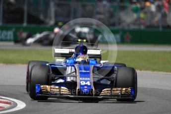 World © Octane Photographic Ltd. Formula 1 - Canadian Grand Prix - Saturday - Qualifying. Pascal Wehrlein – Sauber F1 Team C36. Circuit Gilles Villeneuve, Montreal, Canada. Saturday 10th June 2017. Digital Ref: 1854LB1D6689