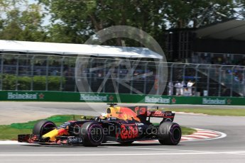 World © Octane Photographic Ltd. Formula 1 - Canadian Grand Prix - Saturday - Qualifying. Daniel Ricciardo - Red Bull Racing RB13. Circuit Gilles Villeneuve, Montreal, Canada. Saturday 10th June 2017. Digital Ref: 1854LB2D3036