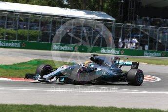 World © Octane Photographic Ltd. Formula 1 - Canadian Grand Prix - Saturday - Qualifying. Lewis Hamilton - Mercedes AMG Petronas F1 W08 EQ Energy+. Circuit Gilles Villeneuve, Montreal, Canada. Saturday 10th June 2017. Digital Ref: 1854LB2D3125