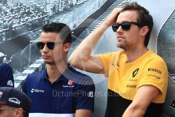 World © Octane Photographic Ltd. Formula 1 - Canadian Grand Prix - Sunday Drivers Parade & Grid. Jolyon Palmer - Renault Sport F1 Team. Circuit Gilles Villeneuve, Montreal, Canada. Sunday 11th June 2017. Digital Ref: 1856LB1D7291