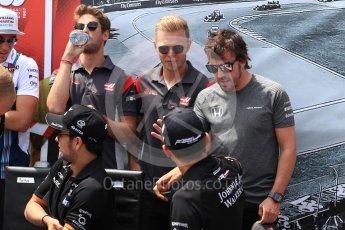 World © Octane Photographic Ltd. Formula 1 - Canadian Grand Prix - Sunday Drivers Parade & Grid. Fernando Alonso - McLaren Honda. Circuit Gilles Villeneuve, Montreal, Canada. Sunday 11th June 2017. Digital Ref: 1856LB1D7302