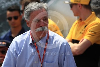 World © Octane Photographic Ltd. Formula 1 - Canadian Grand Prix - Sunday Drivers Parade & Grid. Chase Carey - Chief Executive Officer of the Formula One Group. Circuit Gilles Villeneuve, Montreal, Canada. Sunday 11th June 2017. Digital Ref: 1856LB1D7338