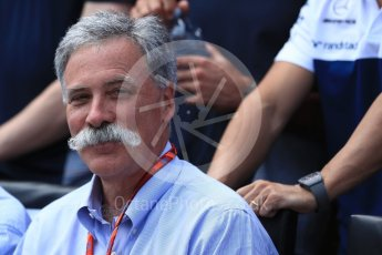 World © Octane Photographic Ltd. Formula 1 - Canadian Grand Prix - Sunday Drivers Parade & Grid. Chase Carey - Chief Executive Officer of the Formula One Group. Circuit Gilles Villeneuve, Montreal, Canada. Sunday 11th June 2017. Digital Ref: