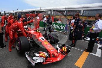 World © Octane Photographic Ltd. Formula 1 - Canadian Grand Prix - Sunday Drivers Parade & Grid. Sebastian Vettel - Scuderia Ferrari SF70H. Circuit Gilles Villeneuve, Montreal, Canada. Sunday 11th June 2017. Digital Ref: 1856LB2D3416