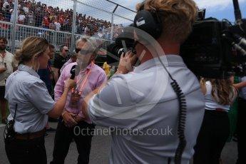 World © Octane Photographic Ltd. Formula 1 - Canadian Grand Prix - Sunday Drivers Parade & Grid. Michael Douglas. Circuit Gilles Villeneuve, Montreal, Canada. Sunday 11th June 2017. Digital Ref: 1856LB2D3435