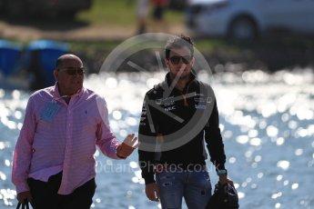 World © Octane Photographic Ltd. Formula 1 - Canadian Grand Prix - Sunday Paddock. Sergio Perez - Sahara Force India VJM10. Circuit Gilles Villeneuve, Montreal, Canada. Sunday 11th June 2017. Digital Ref: 1855LB1D7158